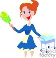work working occupational occupations people cleaner cleaners maid maids   occupation001-9-04 clip art people  gif, jpg