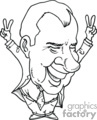 president presidents american political cartoon funny people 37th richard nixon   pres37_richard_nixon_bw clip art people government  gif