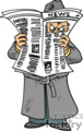 A Man Looking Through a Newspaper Mysterious Like