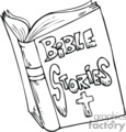 black and white bible stories book