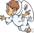 Boy angel flying