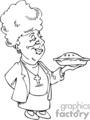 senior women holding a pie gif