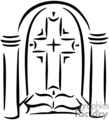 christian religion religious cross church stained glass christian_ss_bw_164 clip art religion christian  gif