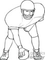 football player players   sport038 clip art sports football  gif, jpg