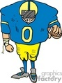 cartoon linebacker