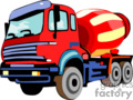 heavy equipment construction truck trucks cement   transport_04_036 clip art transportation land  gif