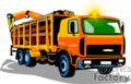 heavy equipment construction truck trucks dump box   transport_04_056 clip art transportation land  gif