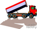heavy equipment construction truck trucks dump   transport_04_061 clip art transportation land  gif