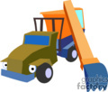 heavy equipment construction truck trucks front loader   transport_04_106 clip art transportation land  gif