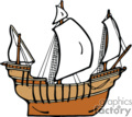 country style ship ships pirate pirates boat boats   ship007pr_c clip art transportation water  gif, eps