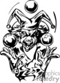 scary clown juggling