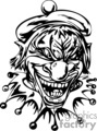 clowns scary mean tattoo art vinyl black white bw angry mad evil gif, jpg, eps