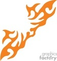 0005 symmetric flames vector clip art image