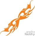 flames fire silhouette vinyl symmetrical tattoo art design