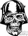 Nazi soldier zombie skull