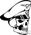 skull bone head skeleton tattoo art vinyl captain police officer cop skipper skippers captains
