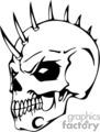 evil skull with bonehawk