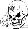 Skull with a celtic cross