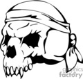skull bone head skeleton tattoo art vinyl bandana pirate