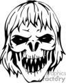 scary zombie skull