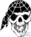 skull bone head skeleton tattoo art vinyl pirate bandana