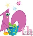 birthday birthdays anniversary anniversaries celebration celebrate 10 10th present presents gift gifts gif, png, jpg, eps