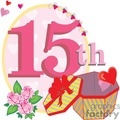 birthday birthdays anniversary anniversaries celebration celebrate 15 15th gif, png, jpg, eps