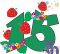 number 15 with strawberries and stars gif, png, jpg, eps