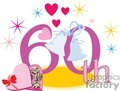 birthday birthdays anniversary anniversaries celebration celebrate parties 60 60th heart hearts gif, png, jpg, eps