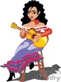flamenco woman playing guitar