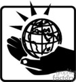 earth in the palm of a hand gif, png, jpg, eps