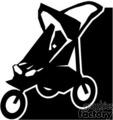 Black and White Jogger Stroller