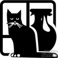 vector vinyl-ready vinyl ready black white animals animal cat cats gif, png, jpg, eps