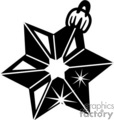 Black and White Star Christmas Tree Decoration