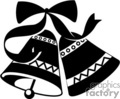 two black and white bells held by a black ribbon gif, png, jpg, eps