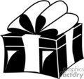 black and white gift box with a pretty ribbon gif, png, jpg, eps