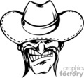 vector vinyl-ready eps png gif jpg vinyl ready black white mascot mascots cartoon cartoons cowboy western cowboys head face faces heads logo logos design tattoo tattoos gif, png, jpg, eps