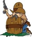 Hiding Cowboy with gun