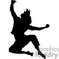 silhouette of a girl jumping in joy