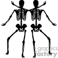 Two skeleton's shadows