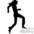 people shadow shadows silhouette silhouettes black white vinyl ready vinyl-ready cutter action vector eps png jpg gif clipart female run runner running gif, png, jpg, eps