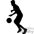 silhouette of a boy playing basketball
