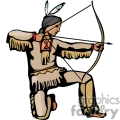 indian indians native americans western navajo hunting bow and arrow vector eps jpg png clipart people gif