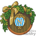 Wreath vector clip art image