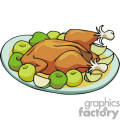 Turkey dinner vector clip art image