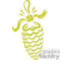 golden single christmas pine cone gif, png, jpg, eps