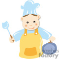 A Man Getting Ready to Cook Cartoon Style