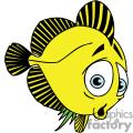 silly yellow and black flounder