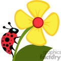 royalty-free ladybug crawling on a flower gif, png, jpg, eps, svg, pdf