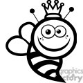 black and white queen bee